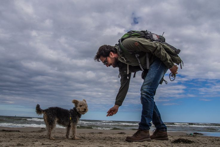 Lu the dog and the Baltic Sea. #dogtravel #adventurewithdogs #dog