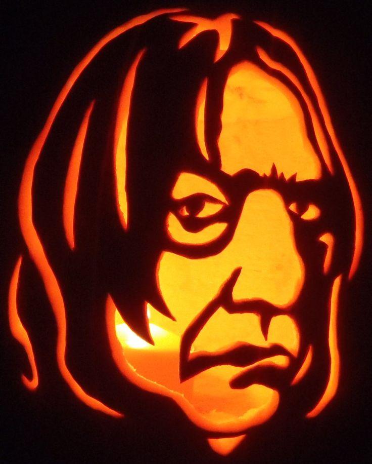 Professor Snape From Harry Potter Pumpkin