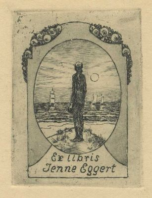 Bookplate by Heinrich Johann Vogeler for Jenne Eggert, 1923