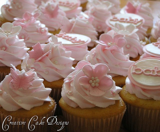 I Want all my cupcakes to look this pretty                                                                                                             Baby Shower Cupcakes             by        Creative Cake Designs (Christina)      on        ..