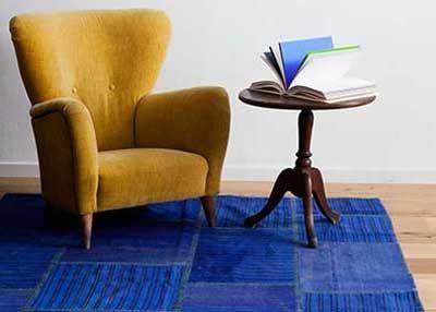 Upea sininen kelim-tilkkumatto!  #sukhimatot #matto #olohuone #sininen #sisustus