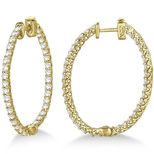 94 best Diamond Hoop Earrings images on Pinterest