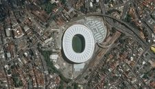 Pléiades Satellite Image - Arena Fonte Nova, Salvador  The ‪#‎WorldCup‬ stadium from the International Space Station.
