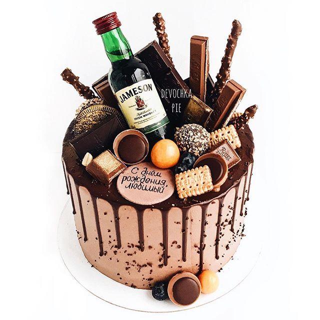 Pyatnica Samoe Vremya Dlya Golovokruzhitelnogo Shokoladno Alkogolnogo Tortiusa Priyatnyh Vyhodnyh Dru Drip Cakes Novelty Birthday Cakes Chocolate Cake Decoration