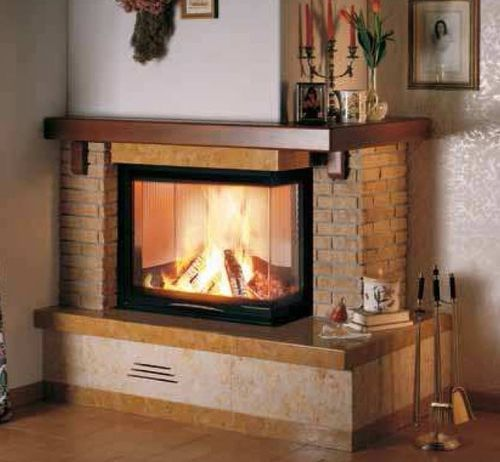Traditional mantel for corner fireplace (marble and wood) - ASSISI - ArchiExpo