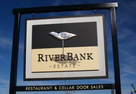 RiverBank Estate Winery Sign | Danthonia Designs