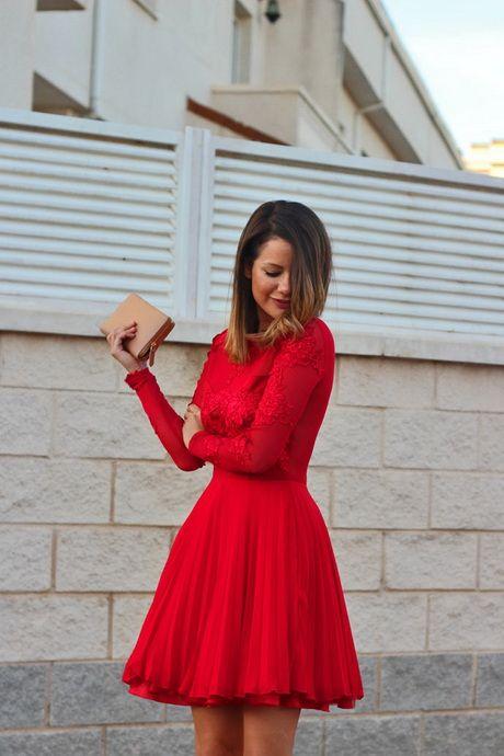 Vestido rojos cortos ¡10 Increíbles diseños!