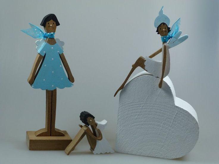 Deko-Objekte - Holzfigur - Frühling - Elfe - ein Designerstück von mw-holzkunst bei DaWanda
