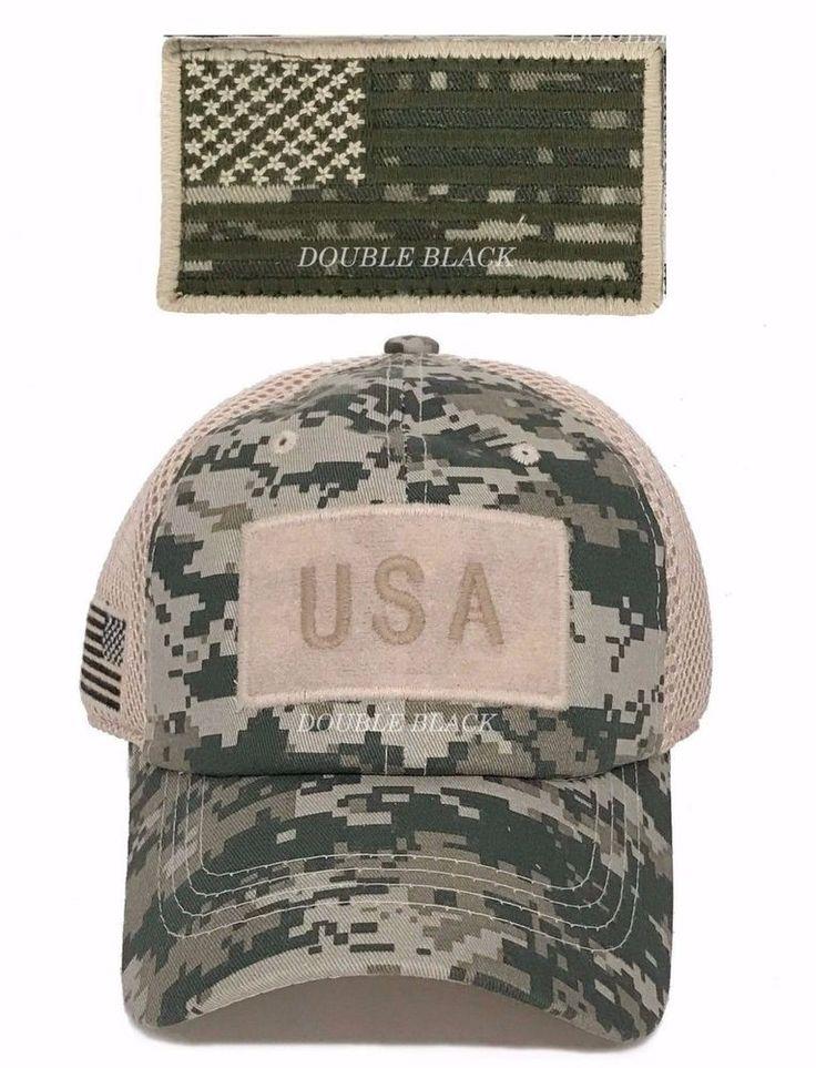 USA American Flag Tactical Operator Hat Military Mesh Ball Cap ACU Digital Camo #Clover #BaseballCap