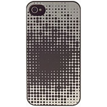 M-Edge IP4-MYP-P-029 Snap Case for iPhone 4, 4S - Black, Silver Dots