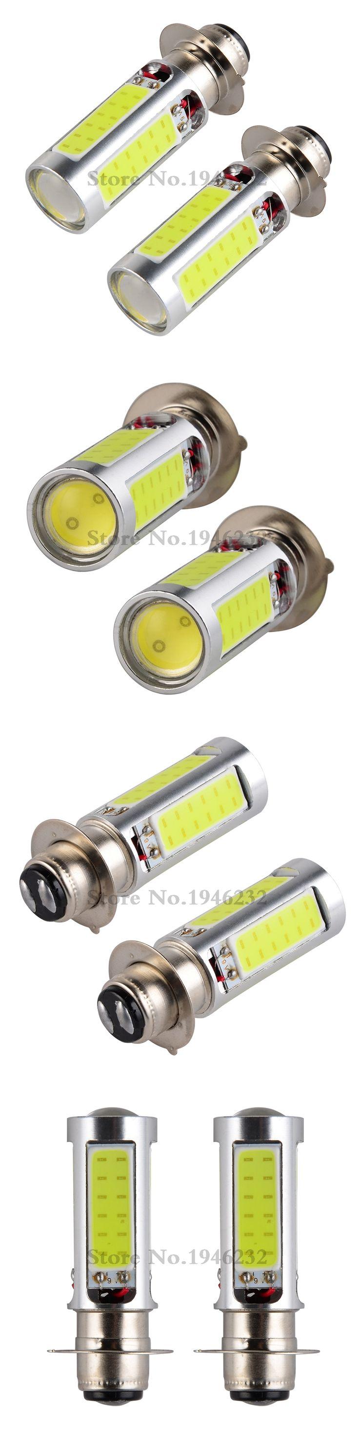 2PCS 80W H6M H6 LED Headlights Bulbs Lamps For ATVS Honda Rancher 350 400 TRX250 Recon TRX300X/EX TRX400EX TRX450ER/R TRX700XX