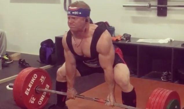 Former NFL coach Jon Gruden's son Deuce is a power lifter!!!!
