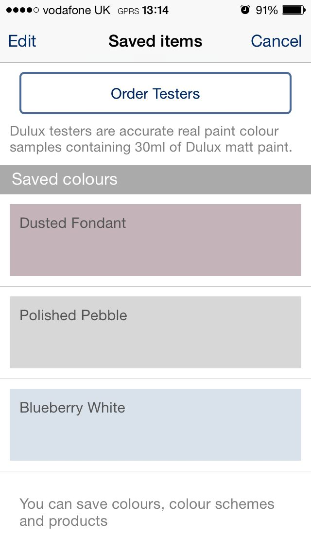 Dulux colour scheme ideas - Polished Pebble for downstairs, Blueberry White for main bedroom and Dusted Fondant for dressing room