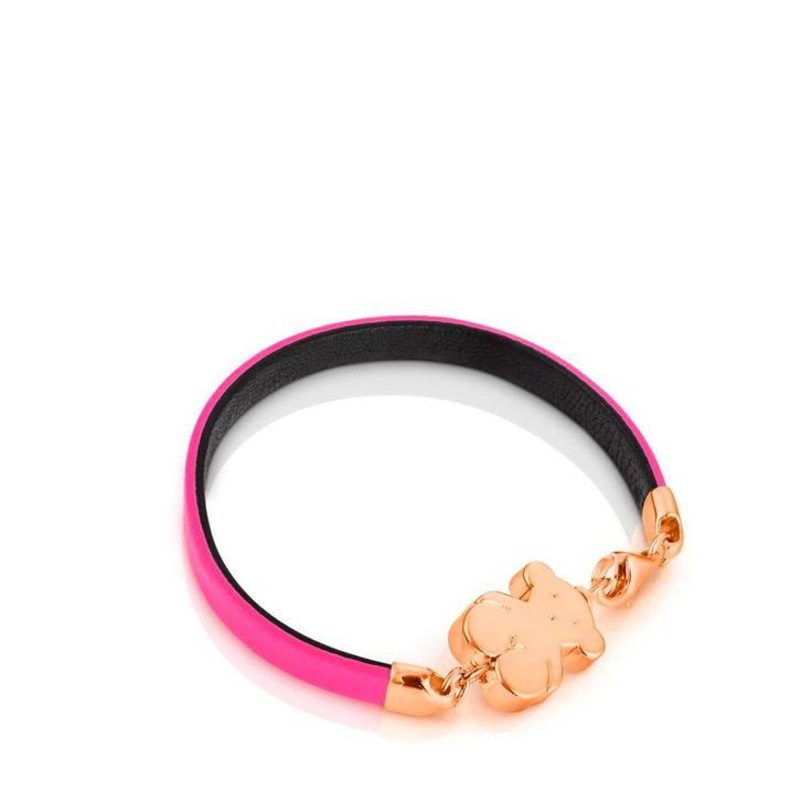 Bransoletka dwustronna Tous Bear różowo-czarna