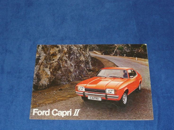 Ford Capri II Mk2 GT Ghia Rare Dutch Belgian Range Brochure Prospekt