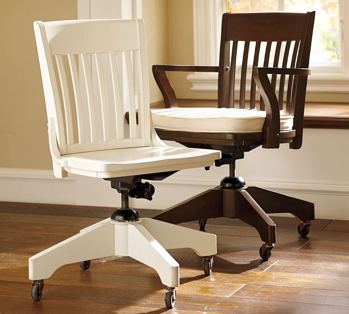 White Wooden Desk Chairs