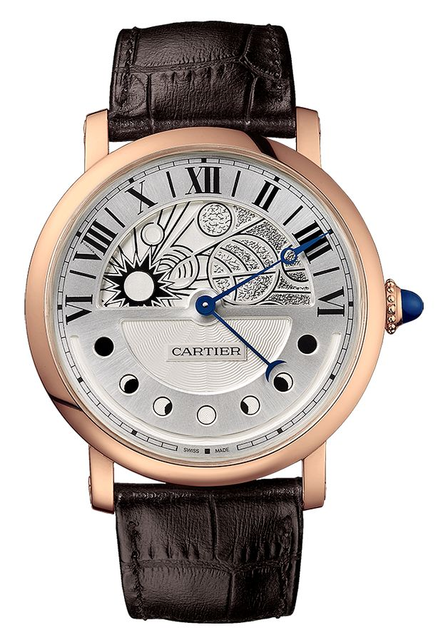 Cartier Rotonde de Cartier Day and Night in Pink Gold Watch