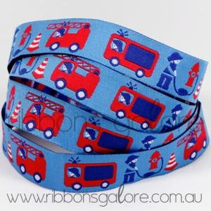 fireman's trucks ribbon  #fireman #blue #red #ribbon