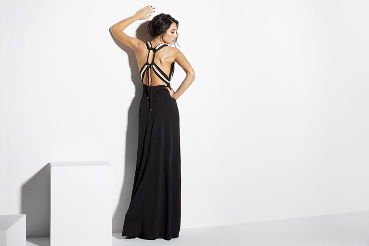 maxi dress laces back