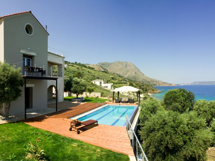 #Arcolios #Epavlis, Souda Bay, Chania, Crete, Greece, is a unique two level industrial style villa of 160m2, 3 bedrooms (6-8 People) built in stone and surrounded by plenty of olive trees. http://www.cretetravel.com/hotel/arcolios-epavlis