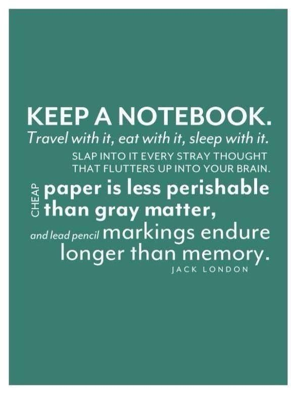 One of the most important 'things' in my life - my notebook.  Advice: keep a notebook.  You'll learn a lot about yourself.