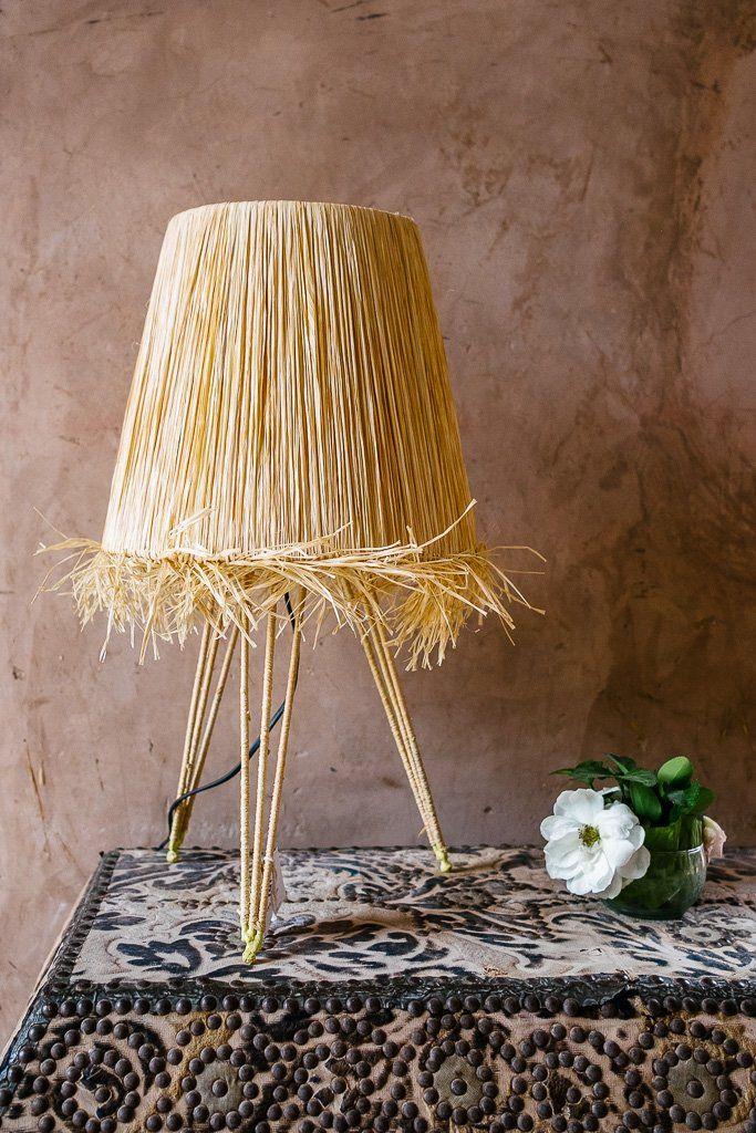 Lampe De Table Trepied Raphia In 2019 Lola S Dream Home