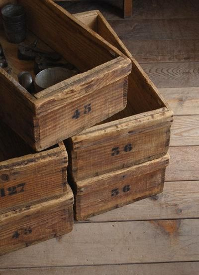 sweet woodsy boxes for storage with tiny numbers... adore