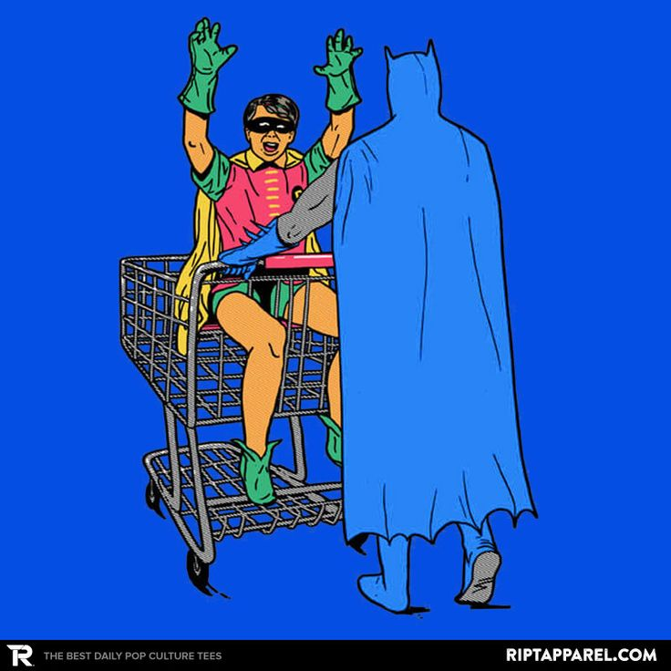 Shopping With The Boy T-Shirt - Batman T-Shirt is $11 today at Ript!