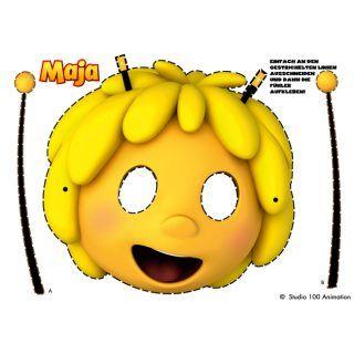 Die Biene Maja Maske zum ausschneiden und aufsetzen. Niemand wird so eine tolle Biene Maja sein wie du! http://studio100.de/marken/dein-maja-kindergeburtstag/