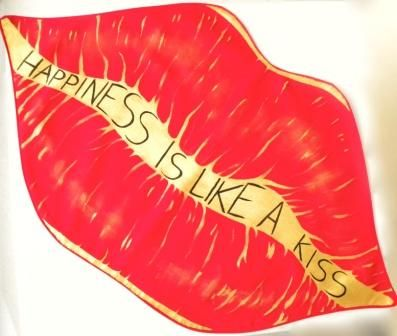 Tovaglietta Kiss in morbido cotone a forma di bocca: un colorato tocco di romanticismo in stile pop. #sanvalentino2014
