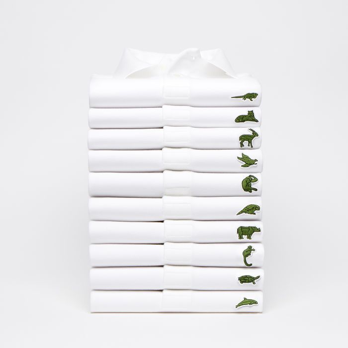 Lacoste Replaces The Iconic Crocodile Logo To Raise Awareness About The Endangered Species