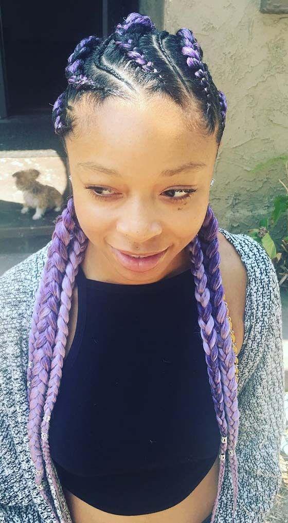 cute and chic cornrow braids
