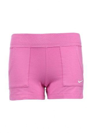 Шорты Nike - отличный выбор. Модель сиреневого цвета выполнена из мягкого хлопкового материала. Детали: два внешних кармана, широкая эластичная резинка на поясе, вышитый логотип бренда. http://j.mp/1pg268v