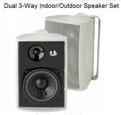 [Allectronics] Dual 3-Way Indoor/Outdoor Speaker Set - LU43