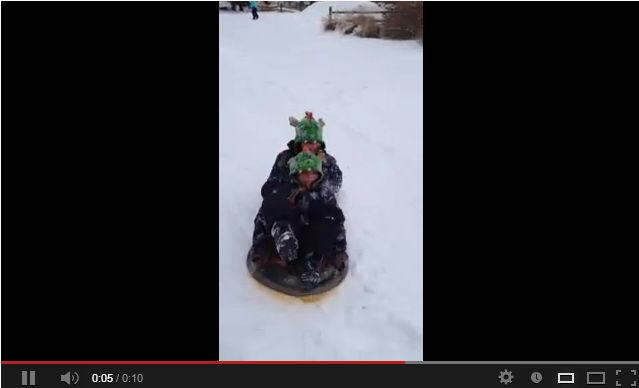 Sledding with the Sons of Mom at Last