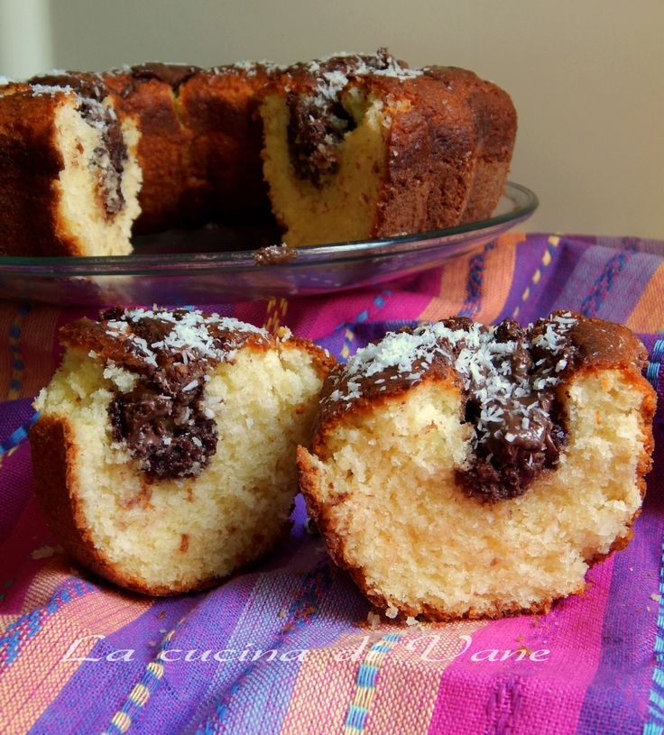 torta ricotta nutella e cocco ricetta golosa per un dolce morbidissimo, che ha un profumo magnifico. Torta soffice ottima per merenda o prima colazione.
