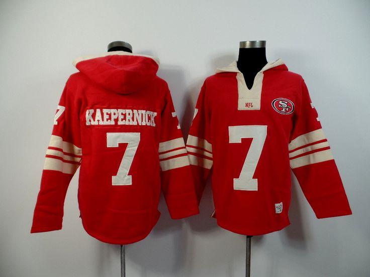Men's Nike NFL San Francisco 49ers #7 Colin Kaepernick 2015 New Hoodie Red http://www.wholesalejerseyclearance.com/san-francisco-49ers_gc130_1_15.html