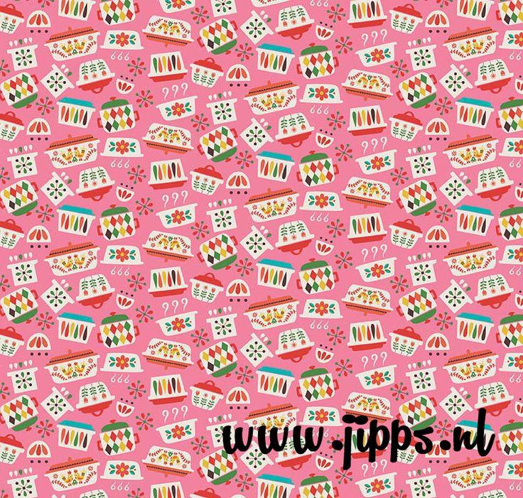 'Vintage Kitchen' - Riley Blake Designs #onlinestoffen #stoffenwebshop #Rileyblakedesigns #kinderstoffen #fabric #retrostoffen kidsfabric