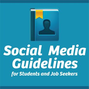 Often underrated but important. - Social Media Guidelines for Students and Job Seekers