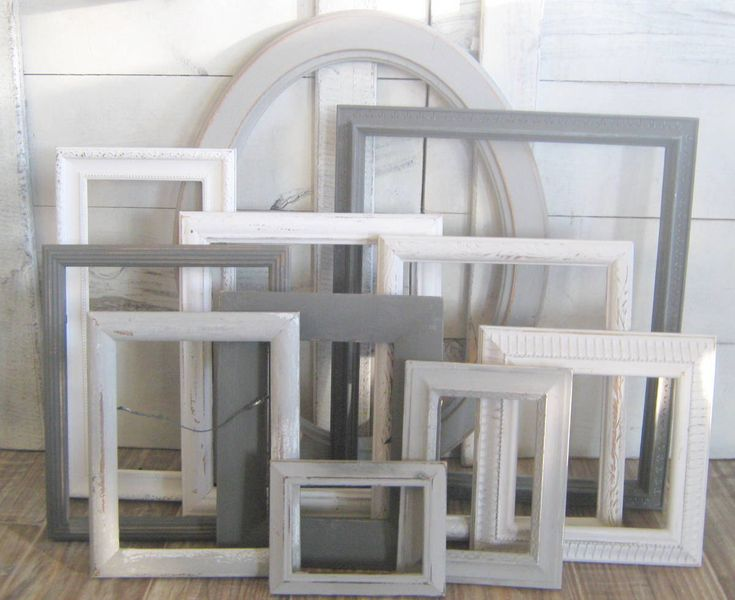 Farmhouse Picture Frame Wall Decor Ombre Gray Set GALLERY WALL FRAMES Collage Many Sizes Custom