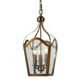 Duke 3 Light Lantern Antique Brass