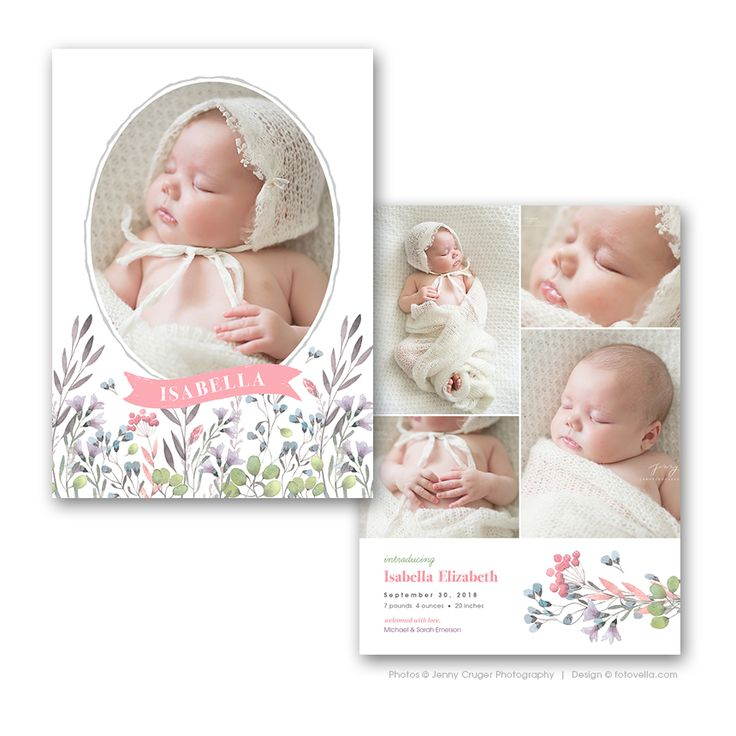 10 images about Birth Announcement Templates – Baby Girl Birth Announcement Template