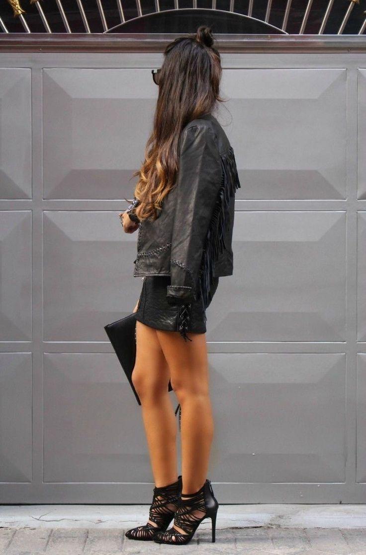 Leather jacket killer b&q - Zara 2015 Fringed Genuine Leather Jacket Coat Size M 8 10 Uk Bloggers Fave Ebay