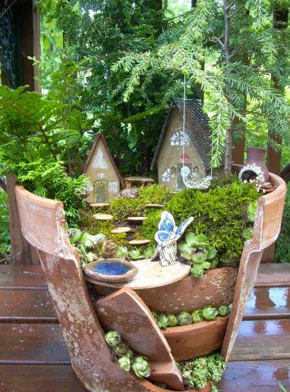 Homemade Plant Pot Fairy Garden