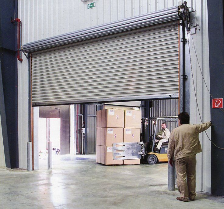 Image result for chain hoist roll up door