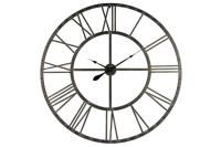 Extra Large Round Clock with Roman Numerals in Black 114 x 114 x 4cm - Christmas