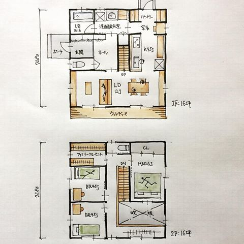 『32坪の間取り』 ・ 洗面脱衣室から家事室を通ってキッチンに抜けられる2WAYグルグル回れる間取りです。 ・ 吹抜けは1階と2階を一体的に繋ぎ開放感が与えてくれます。 しかし冷暖房効率を考えると効率は良くありません。 どちらをとるかはお施主様次第。 ・ #間取り#間取り集 #間取り力 #間取り図 #間取り相談 #間取り考え中 #間取り図好き #間取り図大好き #設計相談#新築検討中#マイホーム検討中#マイホーム計画#読書 #マイホーム計画開始 マイホーム計画三重#三重の間取り#32坪の間取り#吹抜けのある間取り#パントリーのある間取り#家事室のある間取り#ゴールデンウィークも仕事です #三重県#四日市市#桑名市#鈴鹿市#菰野町