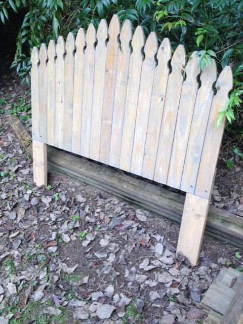 Rustic Picket Fence Headboard by BarnCountryFurniture on Etsy