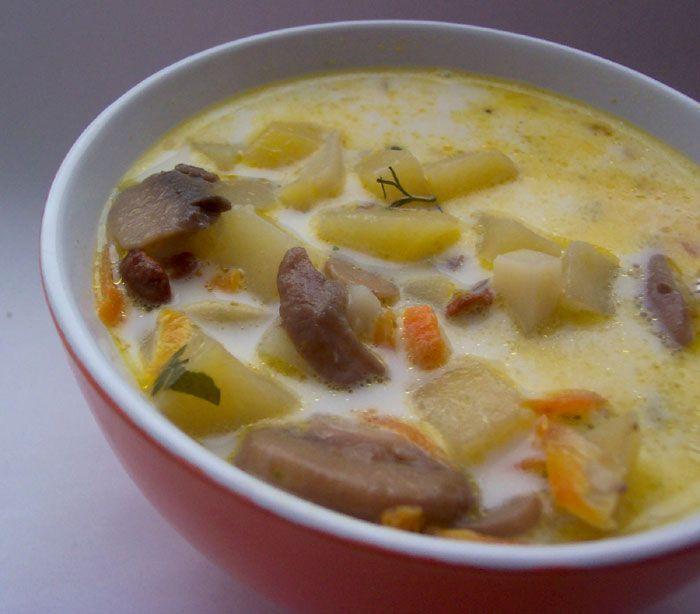 Суп из шампиньонов консервированных рецепт