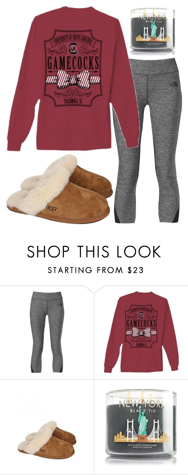 """basically..."" by sofiaestrada ❤ liked on Polyvore featuring moda, The North Face e UGG Australia"